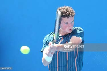 Ewan Moore at Junior Australian Open
